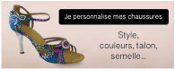 Chaussures de dans personnalisables - DanseBoutique